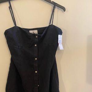 Calvin Klein denim balconett dress brand new